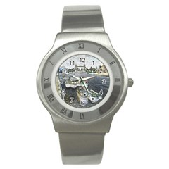 River Thames Art Stainless Steel Watch (round)