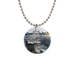 River Thames Art Mini Button Necklace