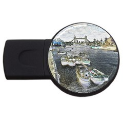 River Thames Art 4Gb USB Flash Drive (Round)