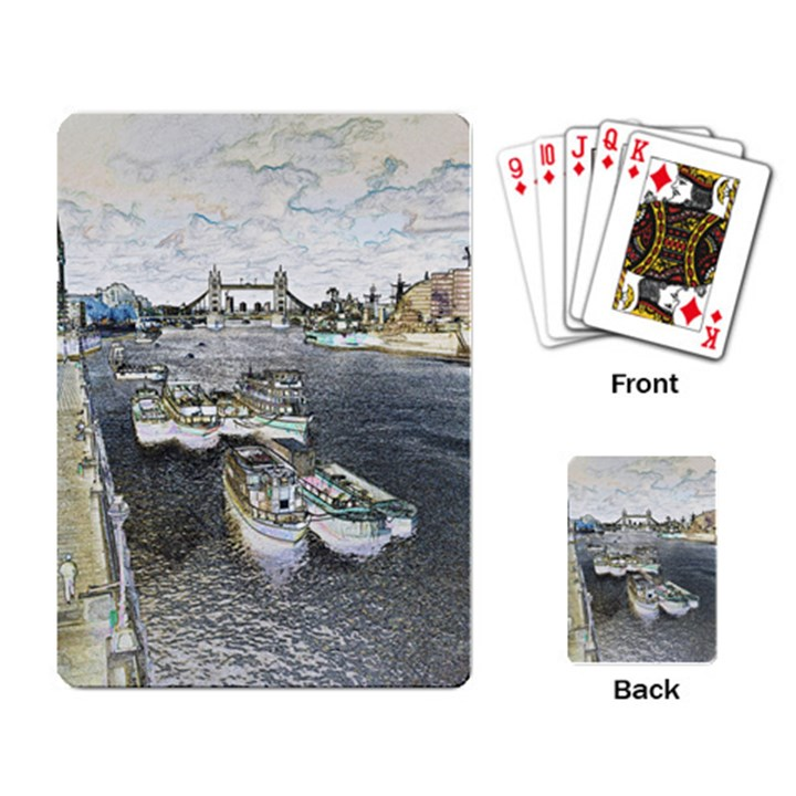 River Thames Art Standard Playing Cards