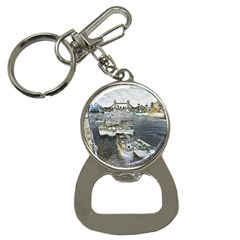 River Thames Art Key Chain With Bottle Opener