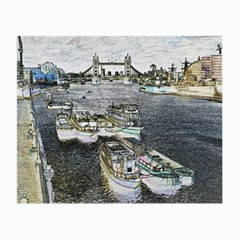 River Thames Art Twin Sided Glasses Cleaning Cloth