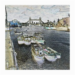 River Thames Art Twin Sided Large Glasses Cleaning Cloth