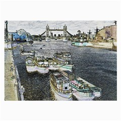 River Thames Art Single Sided Handkerchief