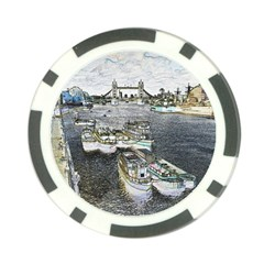 River Thames Art Poker Chip