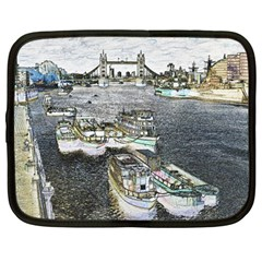 River Thames Art 12  Netbook Case