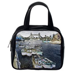 River Thames Art Single-sided Satchel Handbag