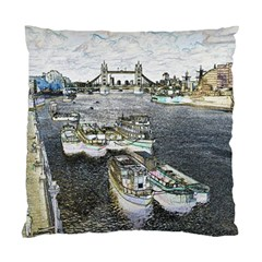 River Thames Art Twin Sided Cushion Case