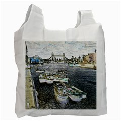 River Thames Art Single-sided Reusable Shopping Bag