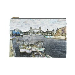 River Thames Art Large Makeup Purse