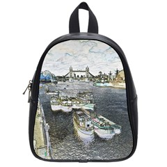 River Thames Art Small School Backpack