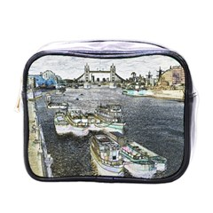 River Thames Art Single-sided Cosmetic Case