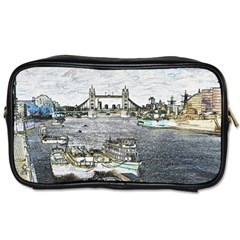 River Thames Art Twin-sided Personal Care Bag