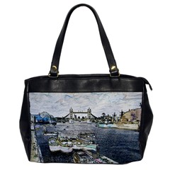 River Thames Art Single-sided Oversized Handbag