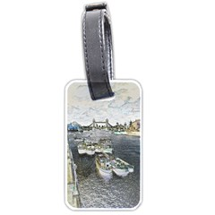 River Thames Art Twin-sided Luggage Tag