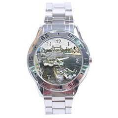 River Thames Art Stainless Steel Analogue Watch (round)