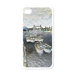 River Thames Art White Apple Iphone 4 Case