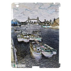 River Thames Art Apple iPad 3/4 Hardshell Case (Compatible with Smart Cover)