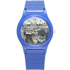 River Thames Art Round Plastic Sport Watch Small