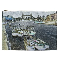 River Thames Art Cosmetic Bag (XXL)