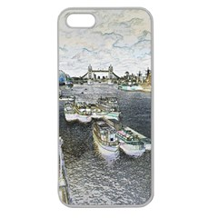 River Thames Art Apple Seamless iPhone 5 Case (Clear)