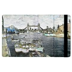 River Thames Art Apple iPad 3/4 Flip Case