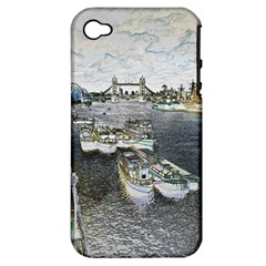 River Thames Art Apple iPhone 4/4S Hardshell Case (PC+Silicone)
