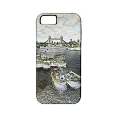 River Thames Art Apple iPhone 5 Classic Hardshell Case (PC+Silicone)