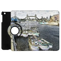 River Thames Art Apple iPad Mini Flip 360 Case