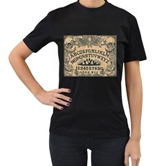 ouija board Black Womens'' T-shirt
