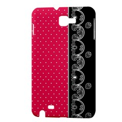 Lace Dots With Black Pink Samsung Galaxy Note Hardshell Case