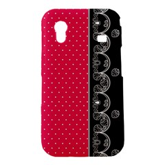 Lace Dots With Black Pink Samsung Galaxy Ace S5830 Hardshell Case