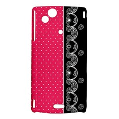 Lace Dots With Black Pink Sony Ericsson Xperia Arc Hardshell Case