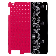 Lace Dots With Black Pink Apple iPad 2 Hardshell Case