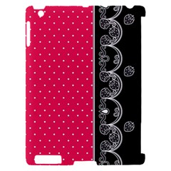 Lace Dots With Black Pink Apple iPad 2 Hardshell Case (Compatible with Smart Cover)