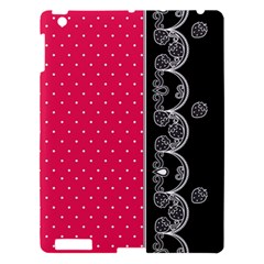Lace Dots With Black Pink Apple Ipad 3/4 Hardshell Case