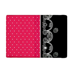 Lace Dots With Black Pink Apple iPad Mini Flip Case