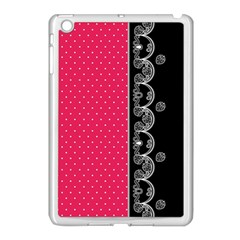 Lace Dots With Black Pink Apple Ipad Mini Case (white)