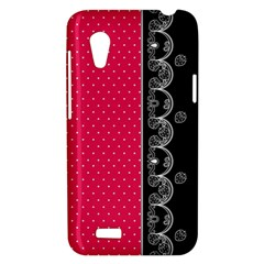 Lace Dots With Black Pink HTC Desire VT T328T Hardshell Case