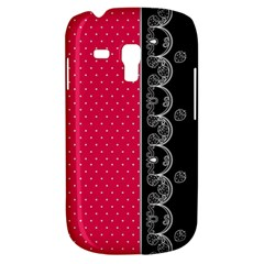 Lace Dots With Black Pink Samsung Galaxy S3 Mini I8190 Hardshell Case