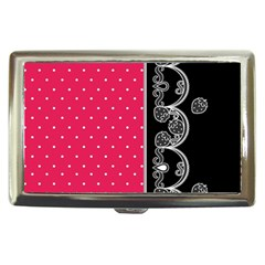 Lace Dots With Black Pink Cigarette Money Case
