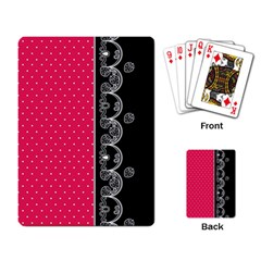 Lace Dots With Black Pink Playing Cards Single Design