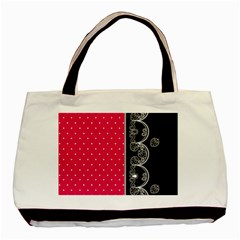 Lace Dots With Black Pink Classic Tote Bag