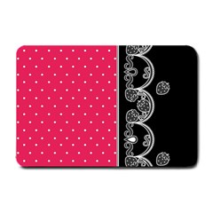 Lace Dots With Black Pink Small Doormat