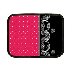 Lace Dots With Black Pink Netbook Case (small)