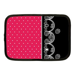 Lace Dots With Black Pink Netbook Case (Medium)