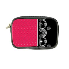 Lace Dots With Black Pink Coin Purse