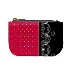 Lace Dots With Black Pink Mini Coin Purse
