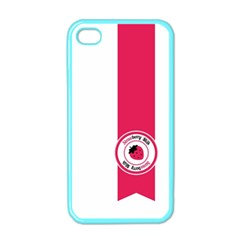 Brand Ribbon Pink With White Apple iPhone 4 Case (Color)