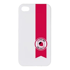 Brand Ribbon Pink With White Apple Iphone 4/4s Hardshell Case